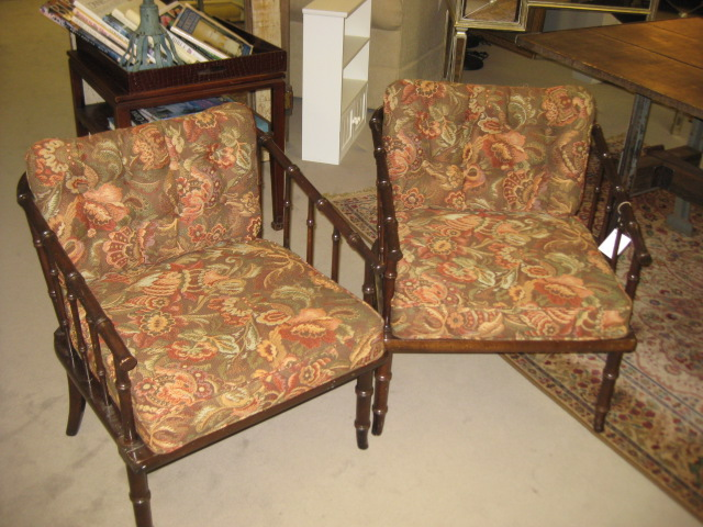 70's Faux Bamboo Chair Pair