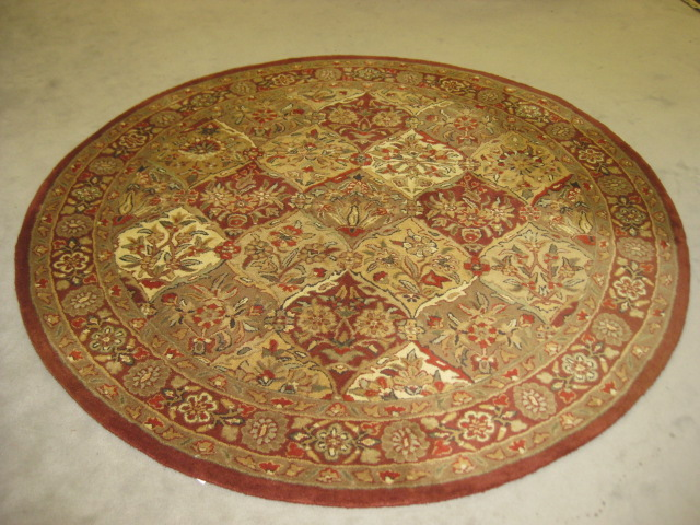 Round Wool Rug 6 ft