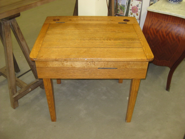 Child's Oak School Desk