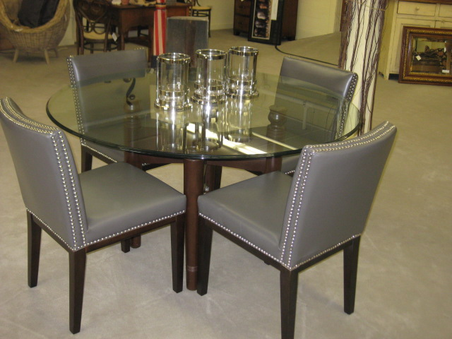 Glass Dining Table w 4 Chairs