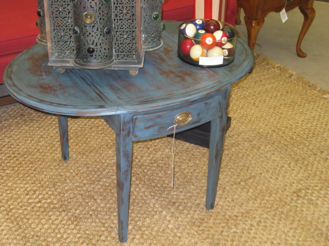 Painted Drop Leaf Table