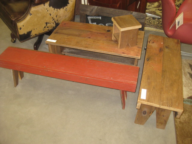 Assortment of Handmade Benches
