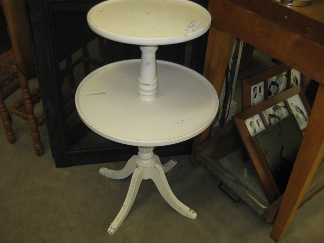 2 Tier Ivory Table