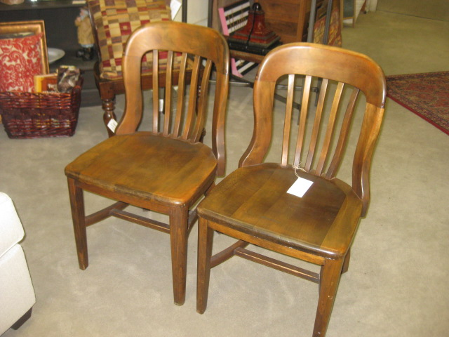 Vintage NYS Library  Chair Pair